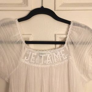 Vintage gauze Je Taime dress